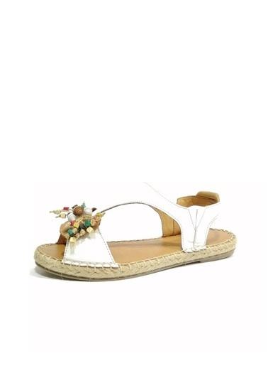 Ballerins Sandalet Beyaz